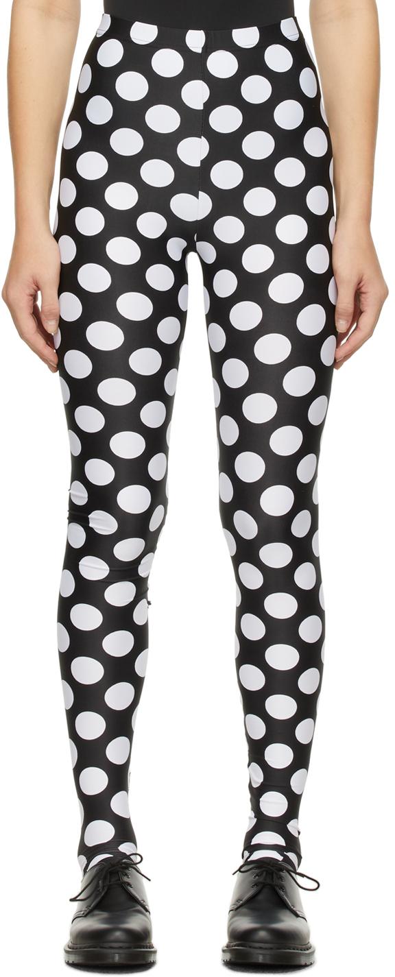 Black & White Polka Dot Leggings