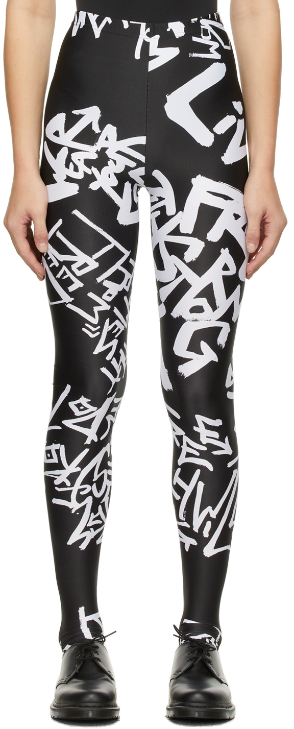Black & White Print Pattern Leggings