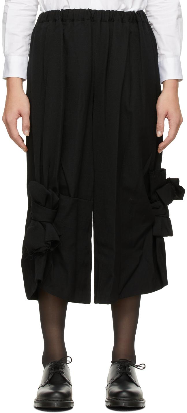 Gabardine Bow Trousers