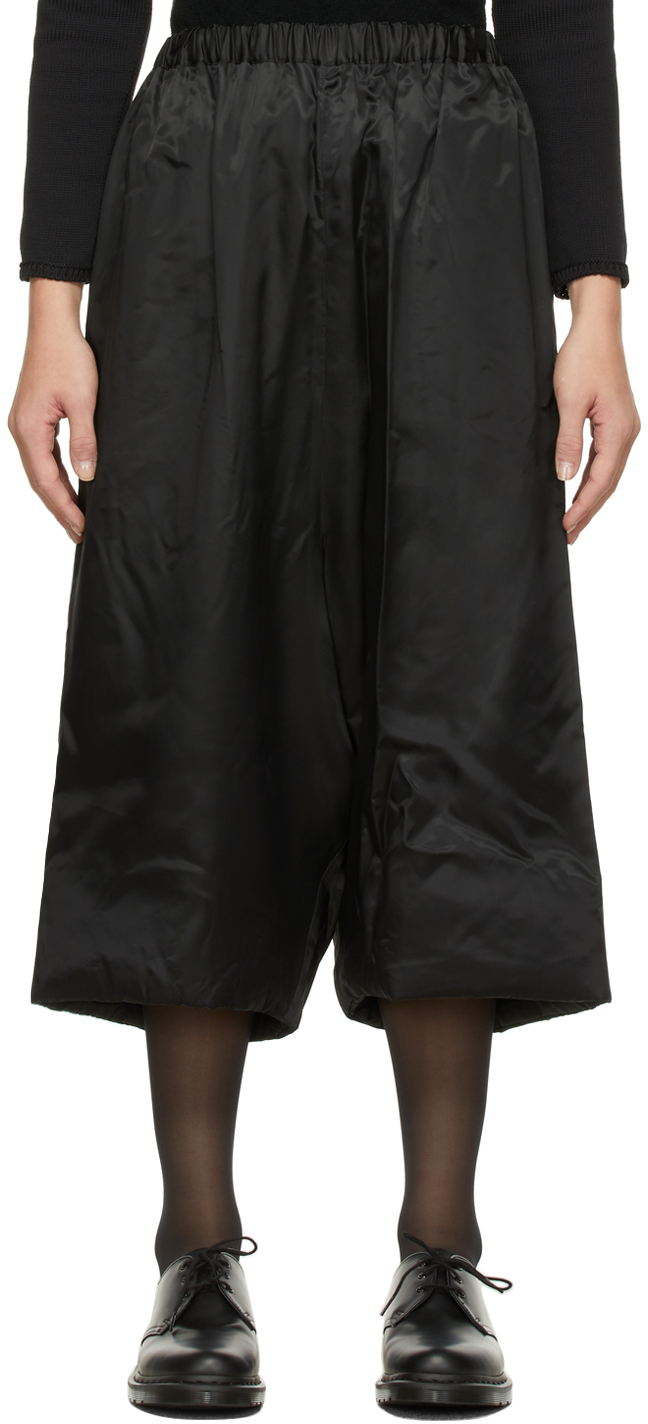 Cupro Cropped Trousers