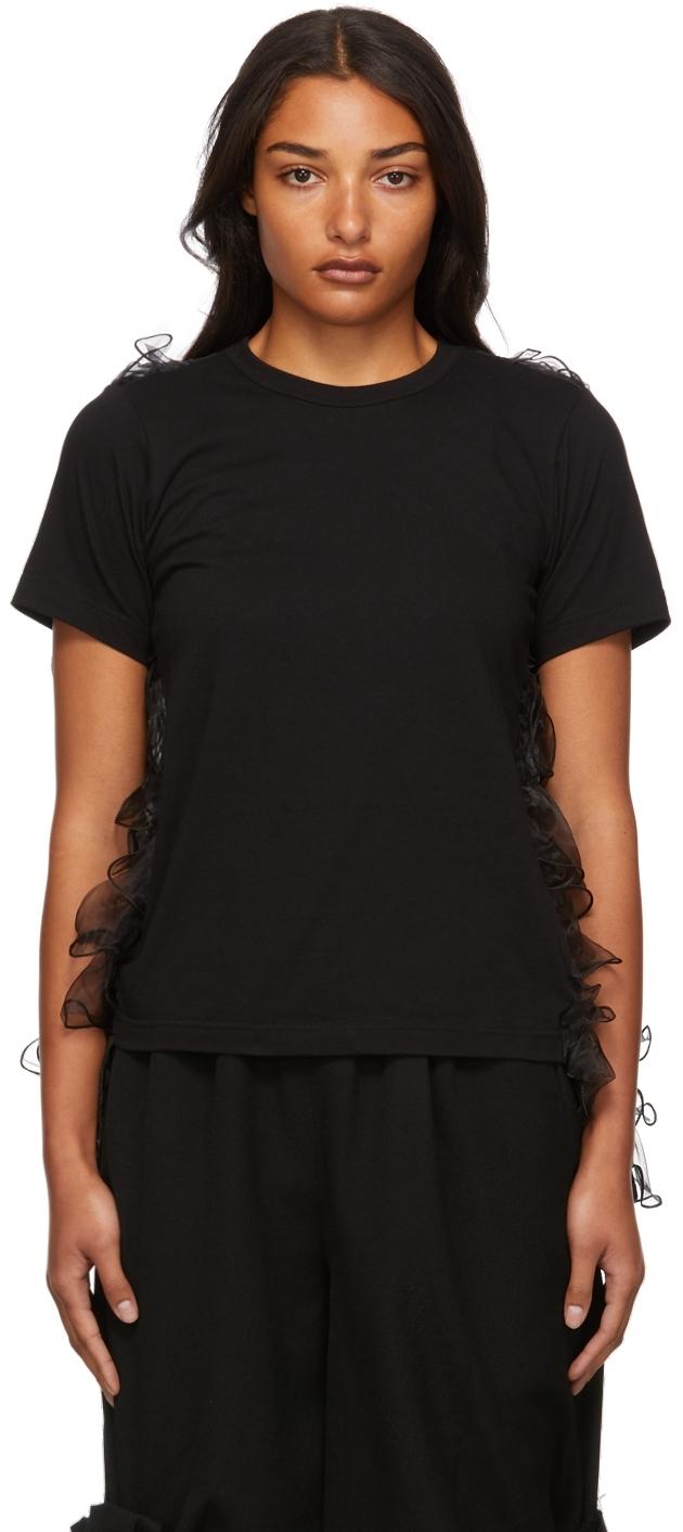 Jersey Organza Ruffle T-Shirt