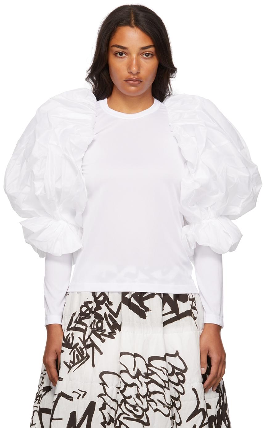 Taffeta Balloon Sleeve T-Shirt