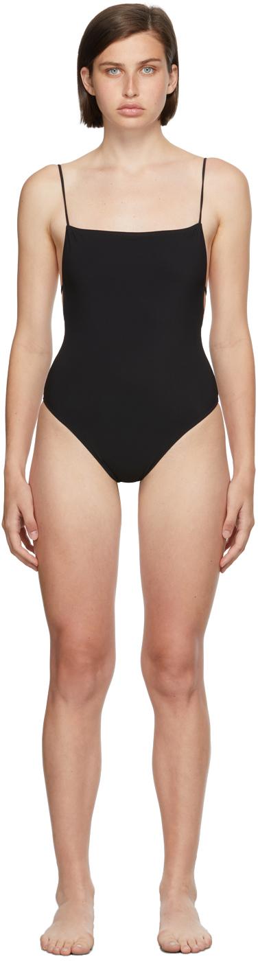 Black Ventiquattro One-Piece Swimsuit