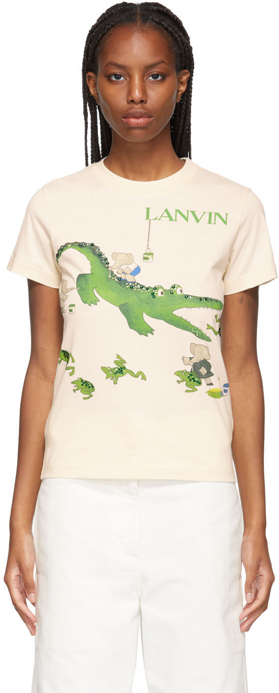 Beige Babar Edition 'Book Of Colors' Alligator T-Shirt