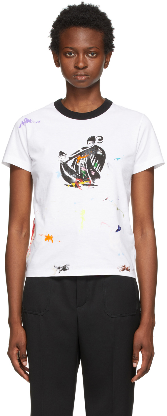 White & Multicolor Gallery Dept. Edition Mother & Daughter T-Shirt