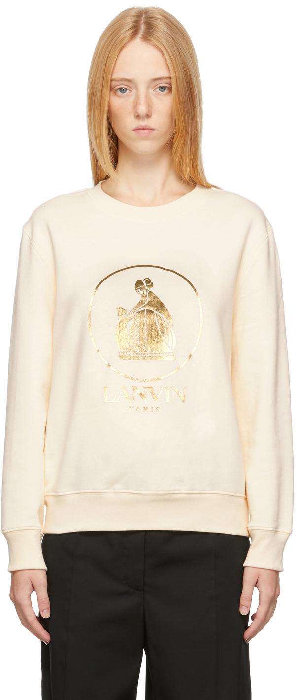 Off-White & Gold Mother & Child Sweatshirt