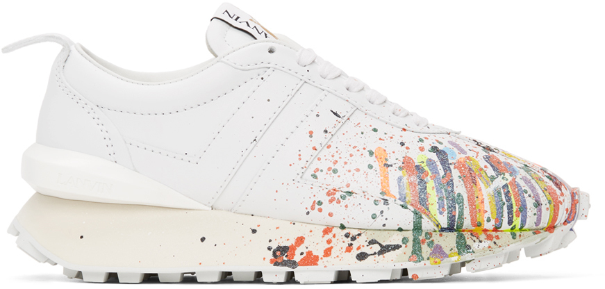 White Gallery Dept. Edition Leather Bumpr Sneakers