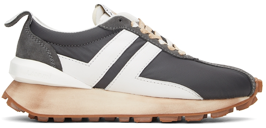Grey Nylon Bumpr Sneakers