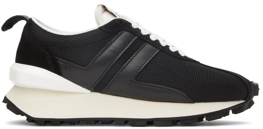 Black Mesh Bumpr Sneakers