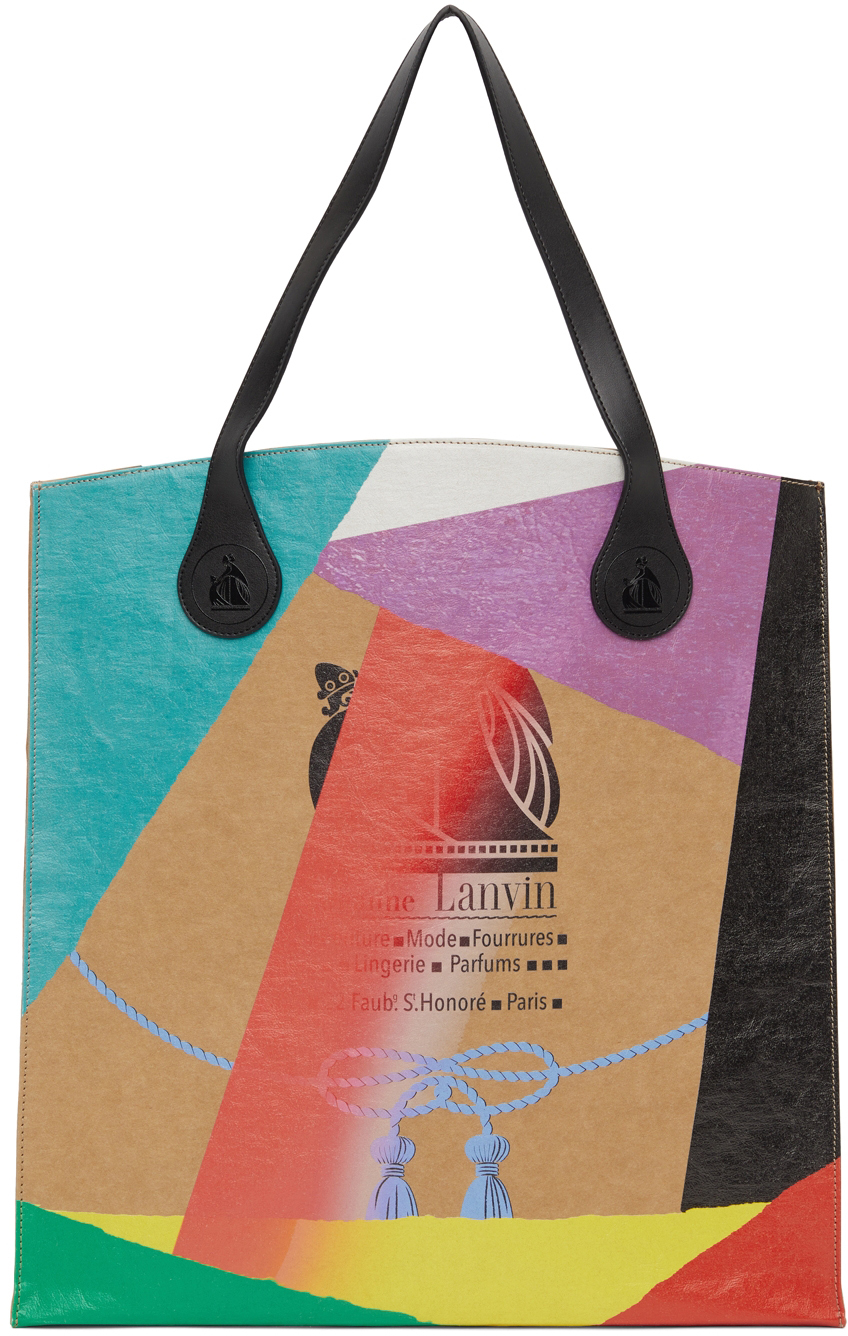 Tan Galley Dept. Edition Printed Kraft Paper Grocery Tote