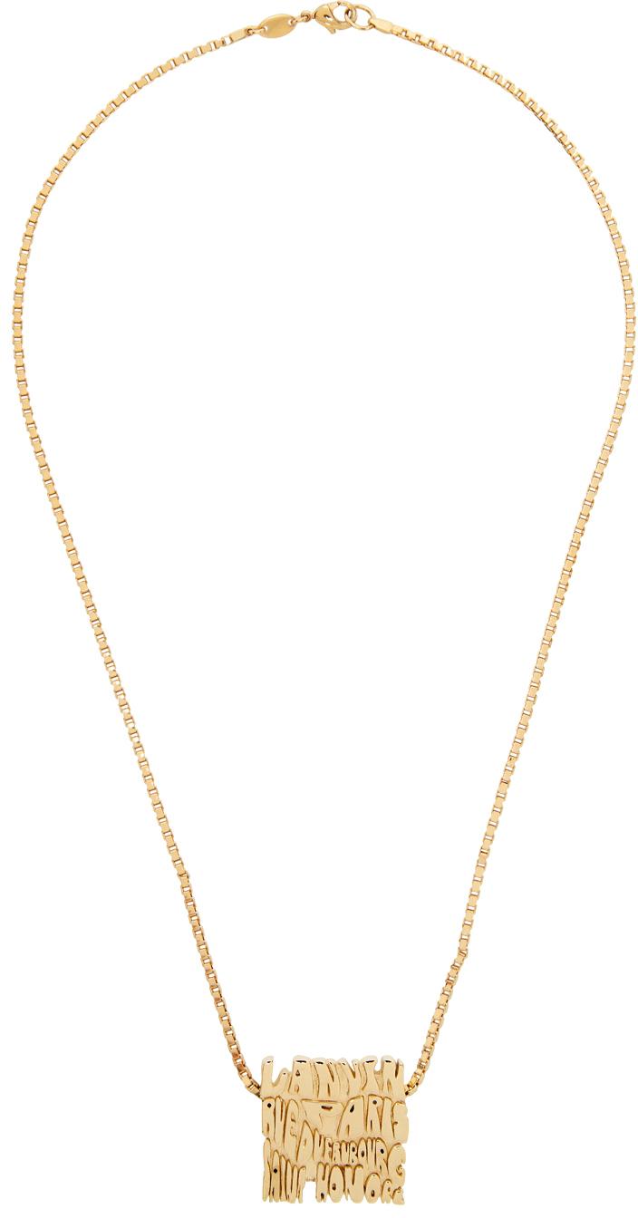 Gold Short Wave Necklace