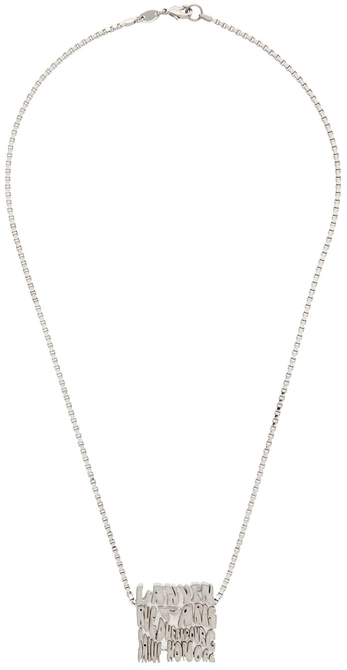 Silver Short Wave Necklace