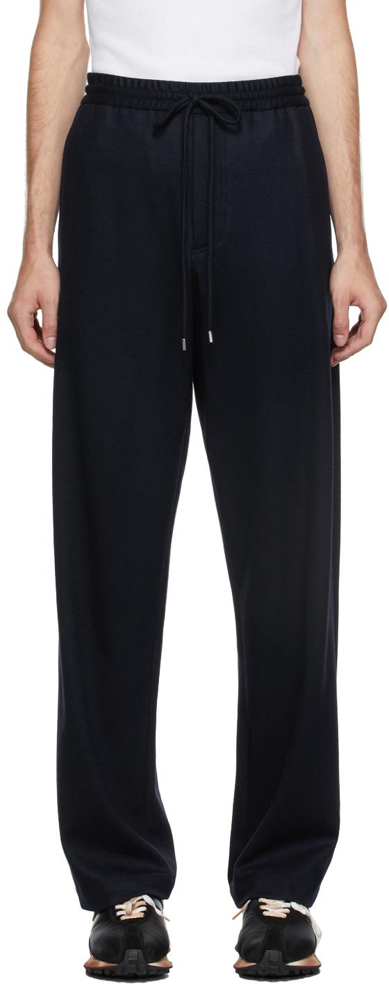 Navy Wool Lounge Pants
