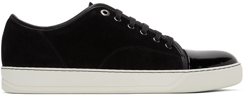Black Suede & Patent Leather DBB1 Sneakers