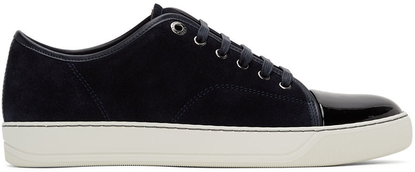 Navy Suede & Patent Leather DBB1 Sneakers