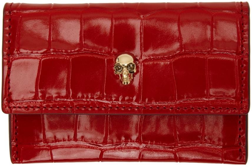 Red Croc Skull Envelope Card Holder