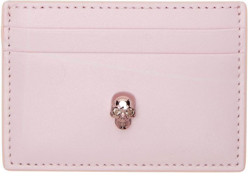 Pink Skull Card Holder