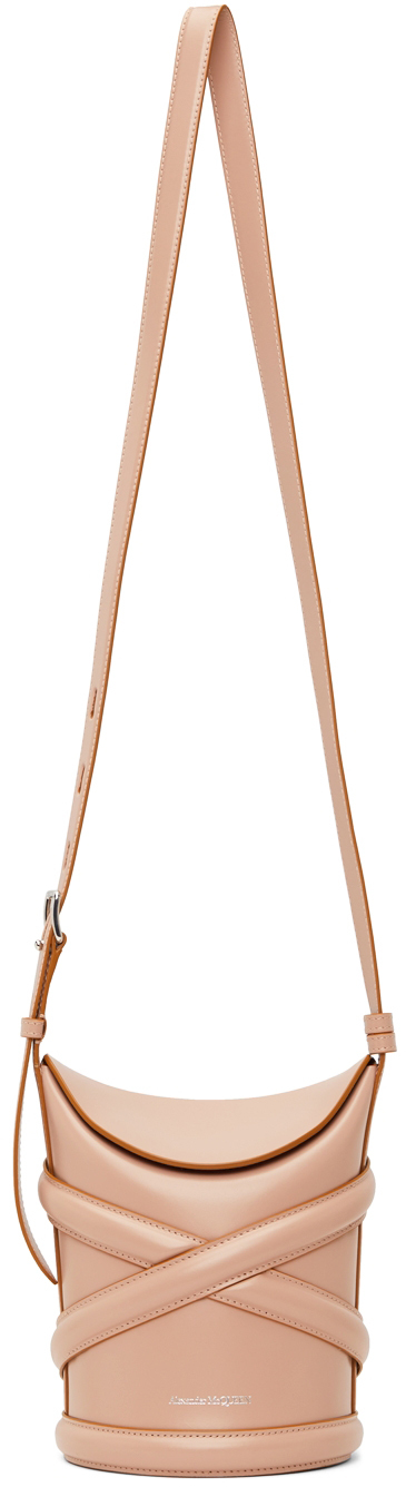 Pink Small 'The Curve' Bucket Bag