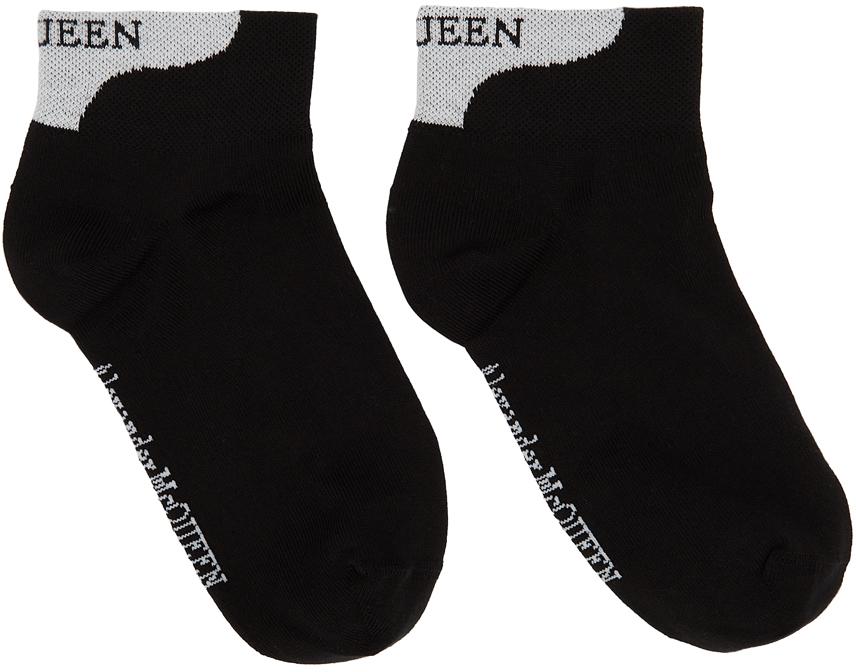 Black & White Logo Ankle Socks
