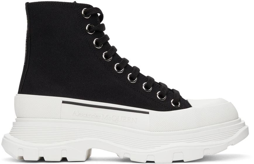 Alexander McQueen Black Tread Slick High Sneakers