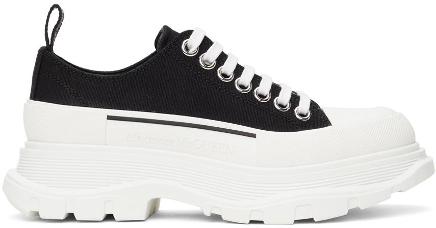 Alexander McQueen Black Tread Slick Low Sneakers