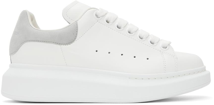 Alexander McQueen White & Grey Oversized Sneakers