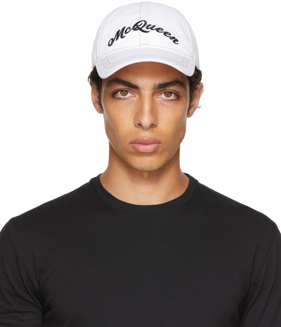White & Multicolor Baseball Cap