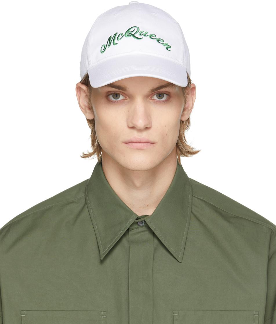 White & Green Logo Cap