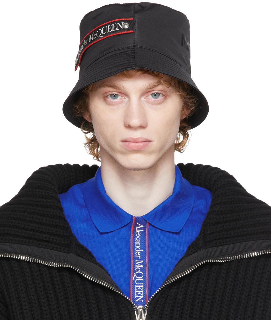Black Graffiti Logo Bucket Hat
