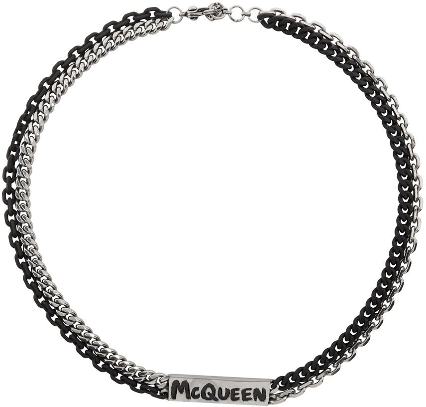 Alexander McQueen Silver & Black Gaff Choker