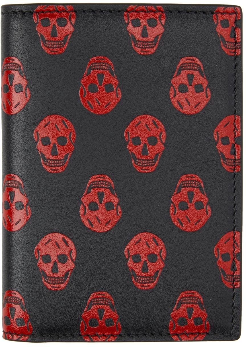 Red & Black Biker Skull Bifold Card Holder