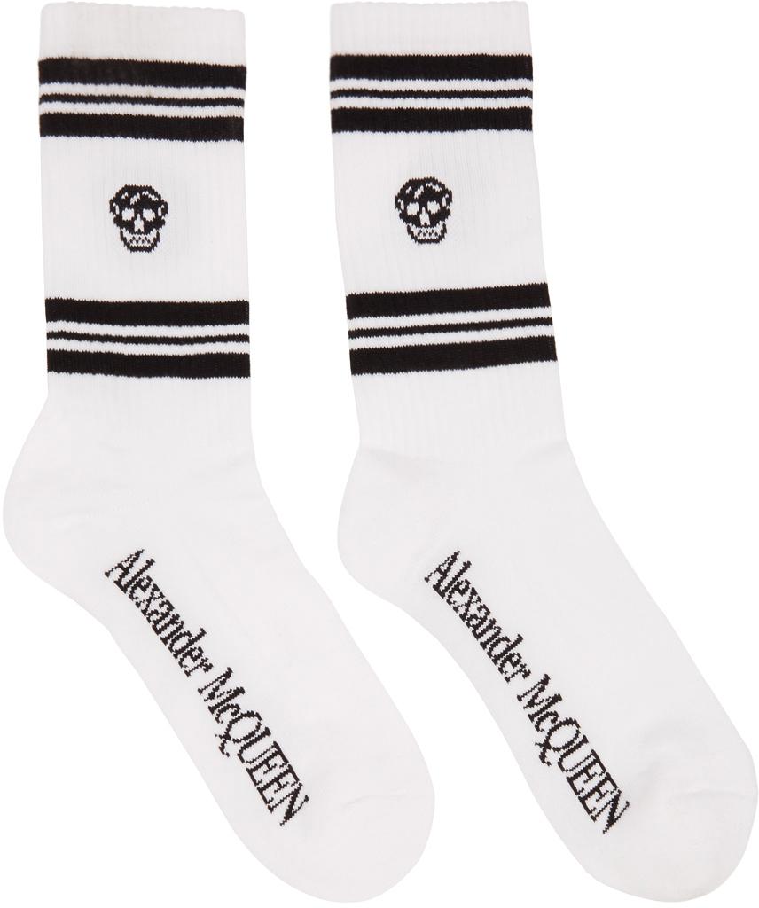 White Skull Sport Socks