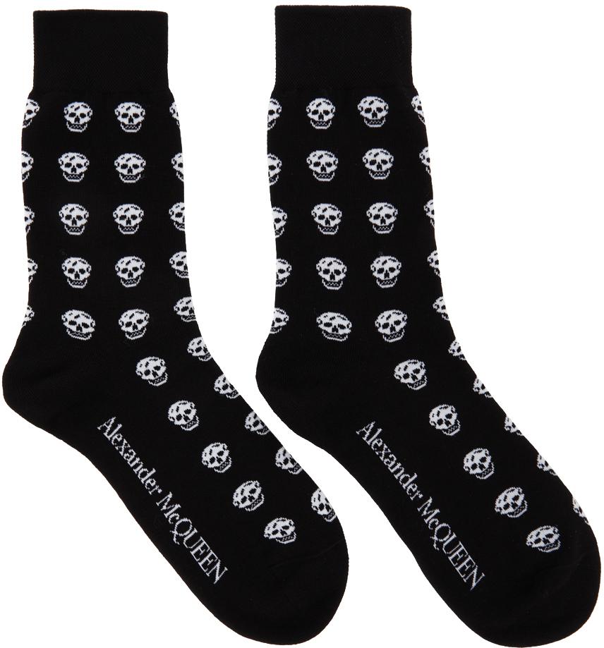 Black & White Skull Socks
