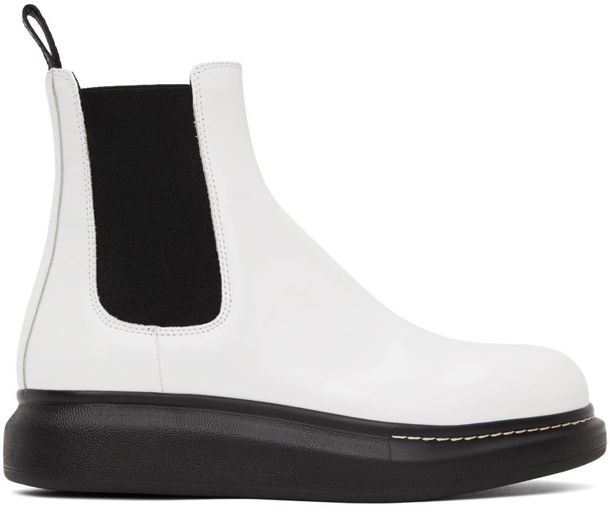 White Hybrid Chelsea Boots