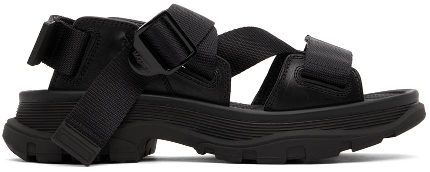Black Tread Sandals
