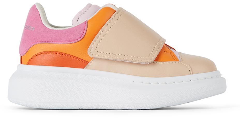 Alexander McQueen Kids Pink & Orange Velcro Molly Oversized Sneakers