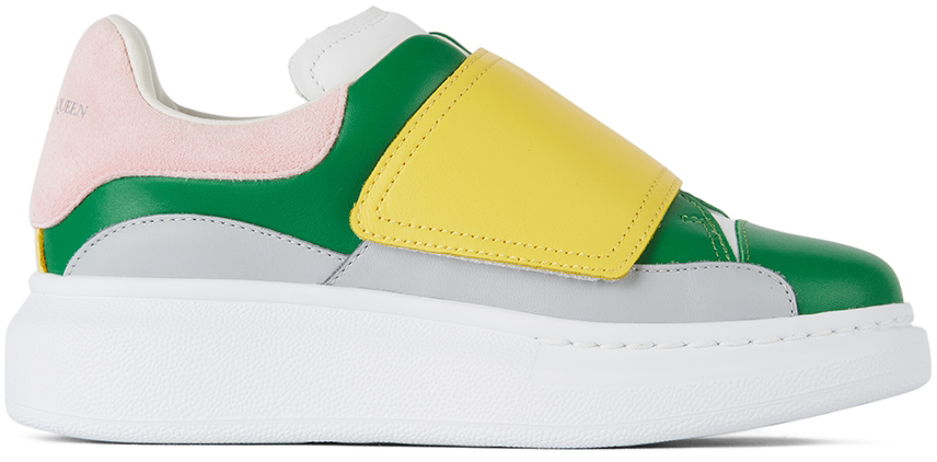 Alexander McQueen Kids Green & Yellow Velcro Molly Oversized Sneakers