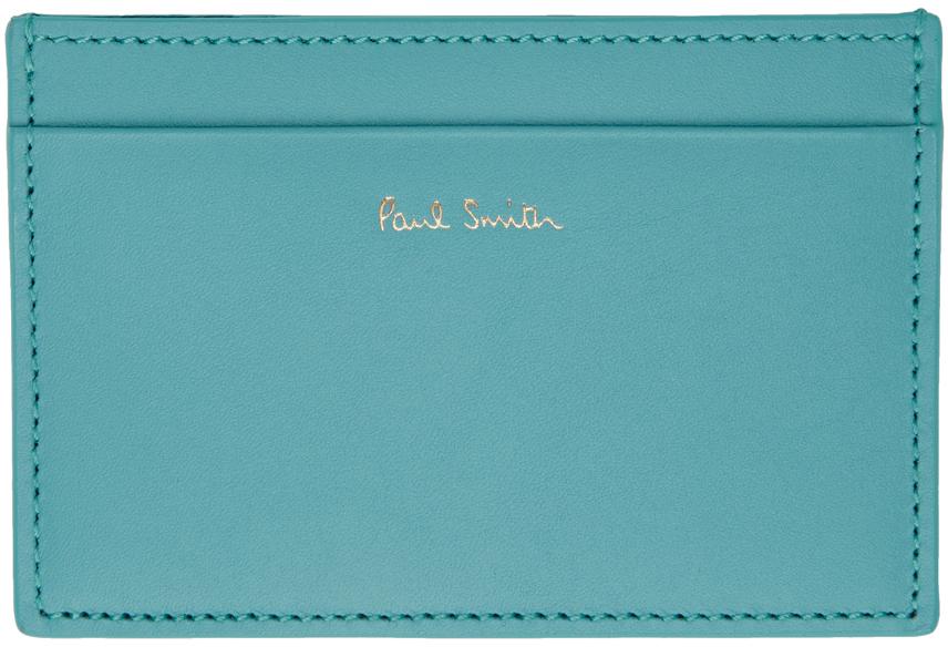 Blue Signature Stripe Card Holder