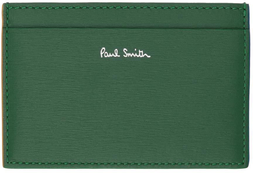 Green & Multicolor Straw Card Holder