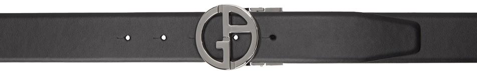 Giorgio Armani リバーシブル ブラック & タン ツートーン ベルト