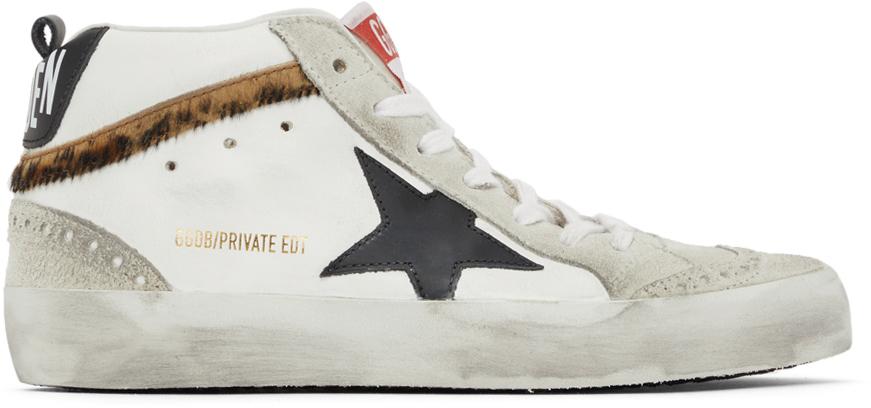 Golden Goose SSENSE Exclusive Mid Star Leopard Sneakers