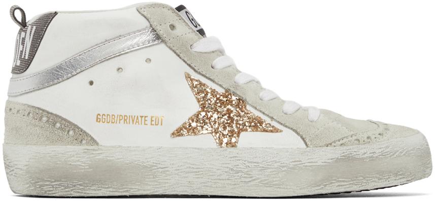 Golden Goose SSENSE Exclusive Glitter Mid Star Sneakers