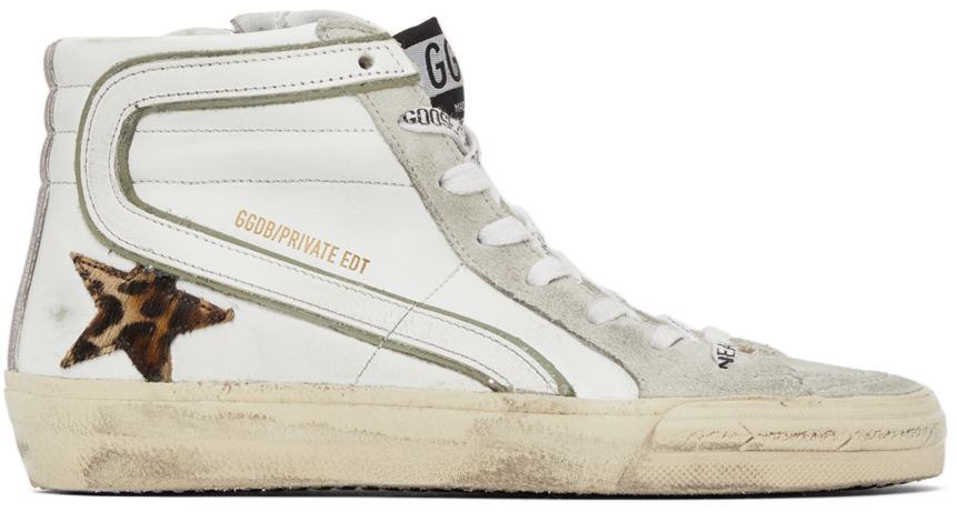 Golden Goose SSENSE Exclusive Leopard Slide Sneakers