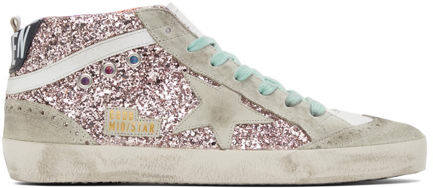 Golden Goose Glitter Mid Star Sneakers