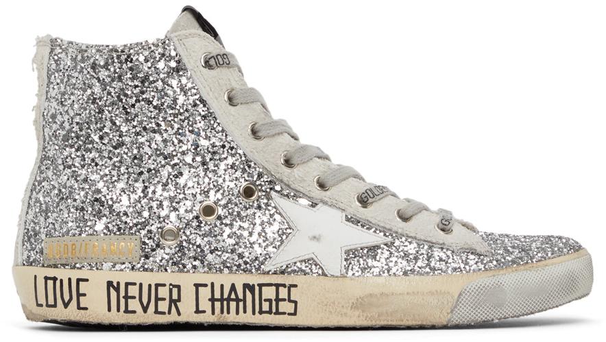 Golden Goose Glitter & Suede Francy Sneakers
