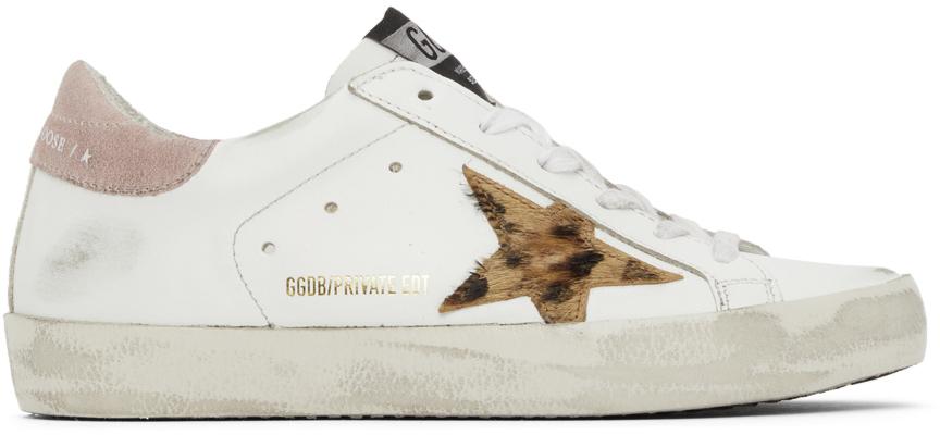 Golden Goose SSENSE Exclusive Leopard Superstar Sneakers