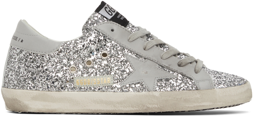 Golden Goose SSENSE Exclusive Glitter Superstar Sneakers