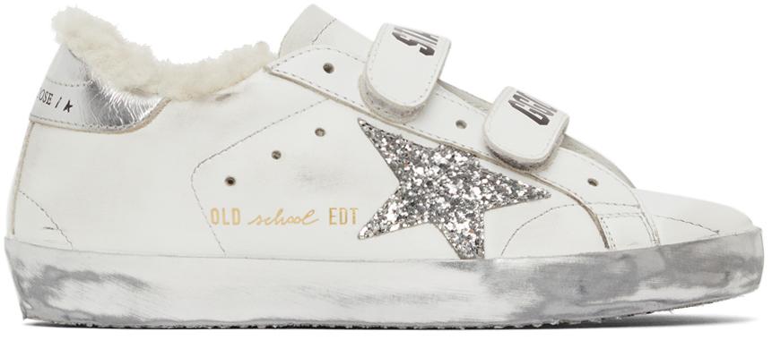 Golden Goose Shearling & Glitter Old School Sneakers