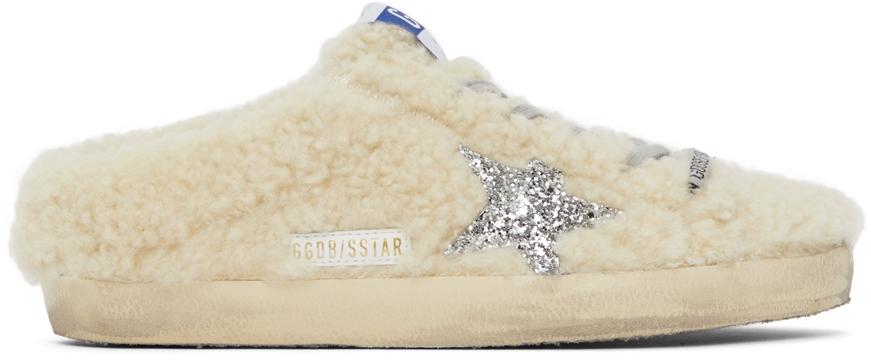 Golden Goose Shearling Superstar Sneakers