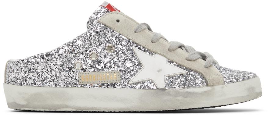 Golden Goose Glitter Super-Star Sabot Sneakers